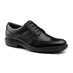 520455cd68dc Dockers SureGrip Mens Authority Black Moc Toe Oxford Slip Resistant Work  Shoes     Details