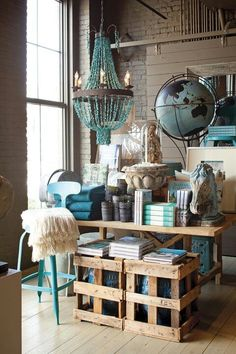 Up and up…varying height adds interest #visual #display #merchandising