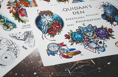 Stickers PACK #1 by quidamsden on Etsy