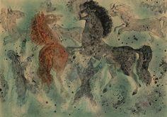 'Arabian Horses', 1955 - Reuven Rubin (1893–1974)