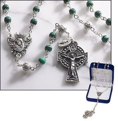 Irish rosary with Miraculous medals dangle. Beautiful catholic gift beattitudesgifts.com