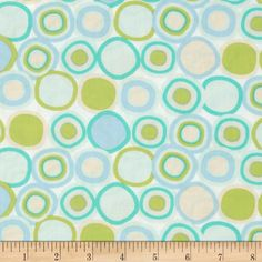 Designed by Sarah Watson for Art Gallery, cotton print is perfect for quilting, apparel and home decor accents. Art Gallery Fabric features 200 thread count of finely woven cotton. Colors include mint, aqua, lime and sky blue on a white background.