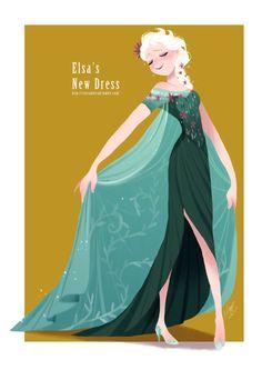 Elsa's new dress by crucianbread.tumblr.com