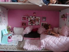 A girl and a glue gun: DIY Barbie House furniture/decor ideas