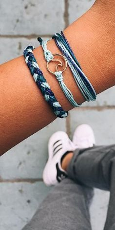 This stack of bracelets is amazing from Pura Vida