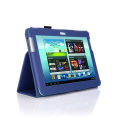 SupCase Slim Fit Folio Leather Tablet Case Cover for Samsung Galaxy Note 10.1-Inch N8000, Sapphire Blue (S8000-62A-SB)  Price:	$20.17
