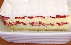 Kolač sa jagodama i vanila kremom — Domaći Recepti Brze Torte, Kolaci I Torte, Torte Recepti, Banana Pudding Cheesecake, Cheesecake Recipes, Baking Recipes, Cookie Recipes, Dessert Recipes, Torta Recipe