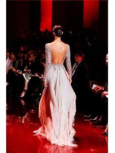 A-line/Princess High Neck Long Sleeves Applique Floor-length Chiffon Dress