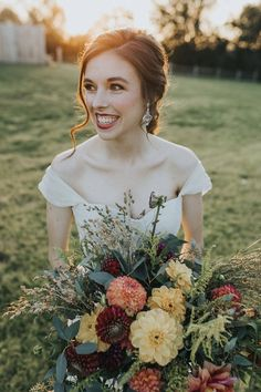 A Rustic Autumn Fairytale Wedding Inspiration | A PRINCESS INSPIRED BLOG - Kimberly Dovi Photography - Wild Rustic Fall Weddong Bouquets