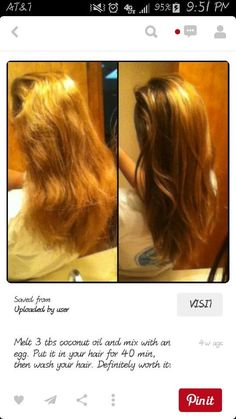 Measure the amount to how damaged your hair is because if you use too much it'll make your hair oily