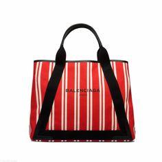 BALENCIAGA Navy Striped Canvas Cabas M Navy Handbag. bag, сумки модные брендовые, bag lovers,bloghandbags.blogspot.com