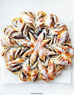 Drożdżowa gwiazda z makiem Crockpot Dessert Recipes, Cake Recipes, Cooking Recipes, Polish Desserts, Homemade Cakes, Christmas Baking, Food Hacks, Sweet Recipes, Holiday Recipes