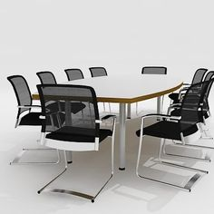 maya meeting furniture chairs 3d model