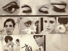 Peggy Moffitt doing her 60s makeup