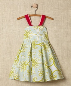 Take a look at this Green Damask Cross-Back Dress - Toddler & Girls by Rainbow Hues: Girls' Dresses on #zulily today!