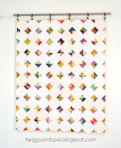 Twiggy and Opal: Scrappy Snowball Quilt