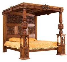 Beds With Posts richard iv four poster bed with intricate carvings and a solid
