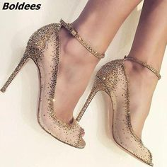 [€ Frauen Mesh Stöckel Absatz Peep-Toe Absatzschuhe mit Strass FSJ Pumps Camouflage Strappy Stiletto Heel Platform Pumps Stiletto High Heels Strappy Pumps Heels Summer and Fall Outfits for Night club, Music festival, Big day Peep Toe Pumps, Pumps Heels, Stiletto Heels, Stilettos, Cute Shoes, Me Too Shoes, Trendy Shoes, Zapatos Shoes, Sneakers Shoes