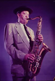 Lester Young by Eliot Elisofon, 1954 - American jazz tenor saxophonist and sometime clarinetist