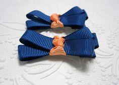 University of Florida Ribbon Bow Hair Clips by LemonandBees, $4.00