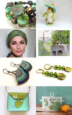 Spring Green by Mary Carrellas on Etsy--Pinned with TreasuryPin.com