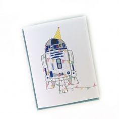 R2D2 Birthday Card - Unicorn Crafts