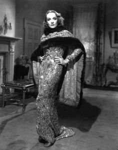 Costume by Travis Banton: Marlene Dietrich in Angel, 1937