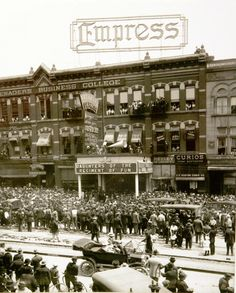 Crowd in front of the Empress Theatre in Salt Lake in 1914. The Empress, located at 53 S. Main St., was later the Paramont Theatre and then the Uptown. Photo Courtesy of the Utah Historical Society