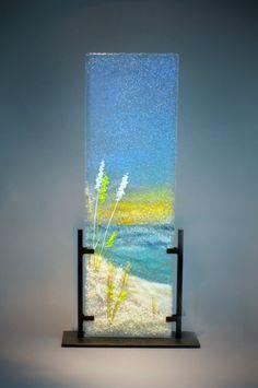 How To Make Beach Glass art - Glass art Projects Free Pattern - Sea Glass art - Fused Glass art Projects - Fused Glass art Broken Glass Art, Sea Glass Art, Glass Wall Art, Stained Glass Art, Water Glass, Window Glass, Glass Fusing Projects, Glass Art Pictures, Glass Art Design
