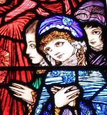 Harry Clarke stained glass, Dingle, Ireland.