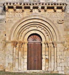 Portada de San Pedro de Tejada - Puente Arenas, Merindad de Valdivieso, Burgos Romanesque Art, Barcelona Cathedral, Visigothic, Wander, Spanish, Architecture, Building, Travel, 12th Century