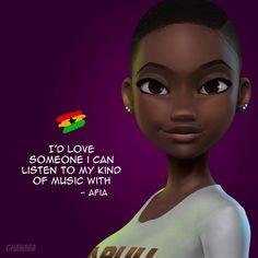 Black Love Art, Black Girl Art, Black Girls Rock, Beautiful Black Women, Black Girl Magic, Brown Art, Black And Brown, Ghanaian Names, Natural Hair Art