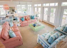 Nothing says summer fun more than bright bursts of color! Wilmington, North Carolina-based interior designer Hooper Patterson is the talent behind this super-fun vacation home on Topsail Island built
