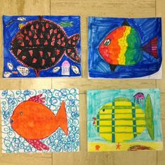 The Colorful Art Palette: September 2013 Teaching Kindergarten, Teaching Art, Drawing Projects, Art Projects, 4th Grade Art, Fish Drawings, How To Do Yoga, Easy Crafts, Art For Kids