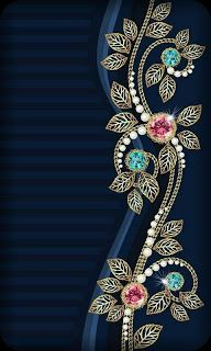 By Artist Unknown. Bling Wallpaper, Screen Wallpaper, Mobile Wallpaper, Pattern Wallpaper, Blue Wallpapers, Pretty Wallpapers, Wallpaper Backgrounds, Cellphone Wallpaper, Iphone Wallpaper