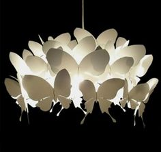 Butterfly Chandelier/Lamp.  Pinned for Kidfolio, the parenting mobile app that makes sharing a snap