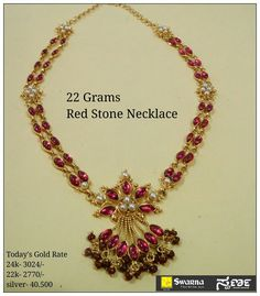 Jewerly Simple Necklace Beads For 2019 Ruby Necklace Designs, Jewelry Design Earrings, Gold Jewellery Design, Beaded Jewelry, Gold Necklace Simple, Gold Jewelry Simple, Gold Necklaces, Gold Mangalsutra Designs, Jewelry Patterns