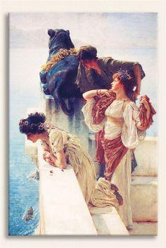 Sir Lawrence Alma Tadema Gözlem Noktası tablosunu premium kalite kanvas baskı (yüksek dpi, orijinal mürekkep, %100 pamuklu tuval) olarak satın alabilirsiniz
