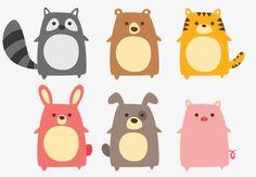ベクトルの可愛い動物, ベクトル, 漫画, 可愛いPNGとベクター