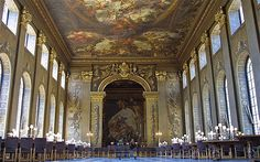 London's Best Dates-Painted Hall, Old Royal Naval College Amazing Architecture, Art And Architecture, Unusual Date, Dating In London, London Places, Good Dates, World's Most Beautiful, London Calling, Most Romantic