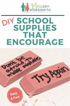 It's easy to personalize a few school supplies with words of encouragement. Make a difference all year long with these simple ideas. #diy #school #supplies #backtoschool #children #kids #schoolsupplies