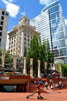 Portland Pioneer Square Skater - Johnson-Miles photo