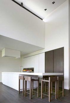innovative simple stylish dark white kitchen design