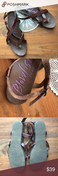 Blowfish scrappy leather sandals, 6.5 Like new, only worn once or twice. Timeless sandal. No blemishes. Blowfish Shoes Sandals