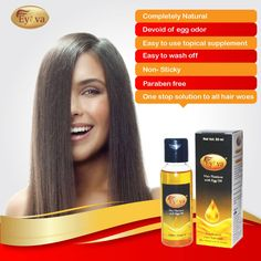 "Next time somebody asks you ""What is Eggoil""?  You know what to say :) ! Eyova features for a richer,healthier hair !"
