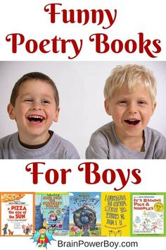 Poetry is great to help develop reading and writing skills. Try 11 super funny poetry books that are sure to be a hit with boys.