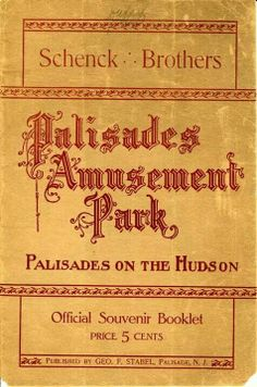 Circa 1913. Palisades Amusement Park, Palisades Park, Jersey Girl, New Jersey, Cliffside Park, Tunnel Of Love, Bergen County, Old Images, You Are Perfect