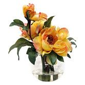 Found it at Wayfair - Yellow Peonies in Acrylic Water Vase
