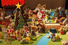 アイシングクッキーで創り上げたクリスマスディスプレイ!