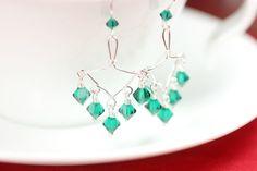Green Chandelier Earrings Emerald Chandelier by JessicaLuuJewelry, $40.00